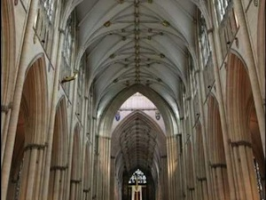 Gothic arches on Staff and Scrip, Dr John Dunn